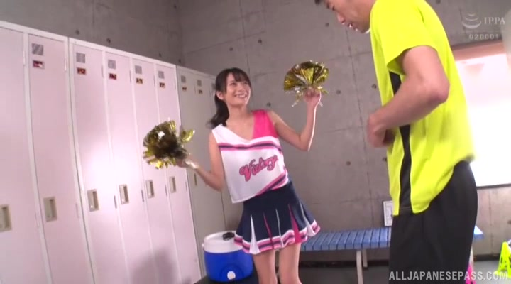 Cheerleader Nonoura Non fucked from behind in the locker-room