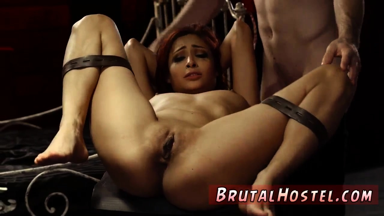 Outdoor bondage woods and brutal gangbang Poor tiny Jade