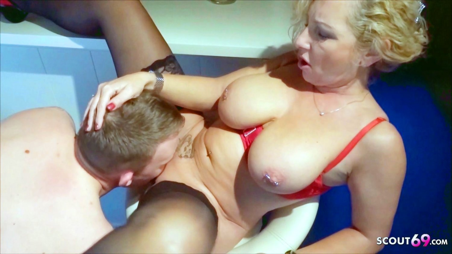 German Mom First Has Fun with Step Son and then Fucks his Dad