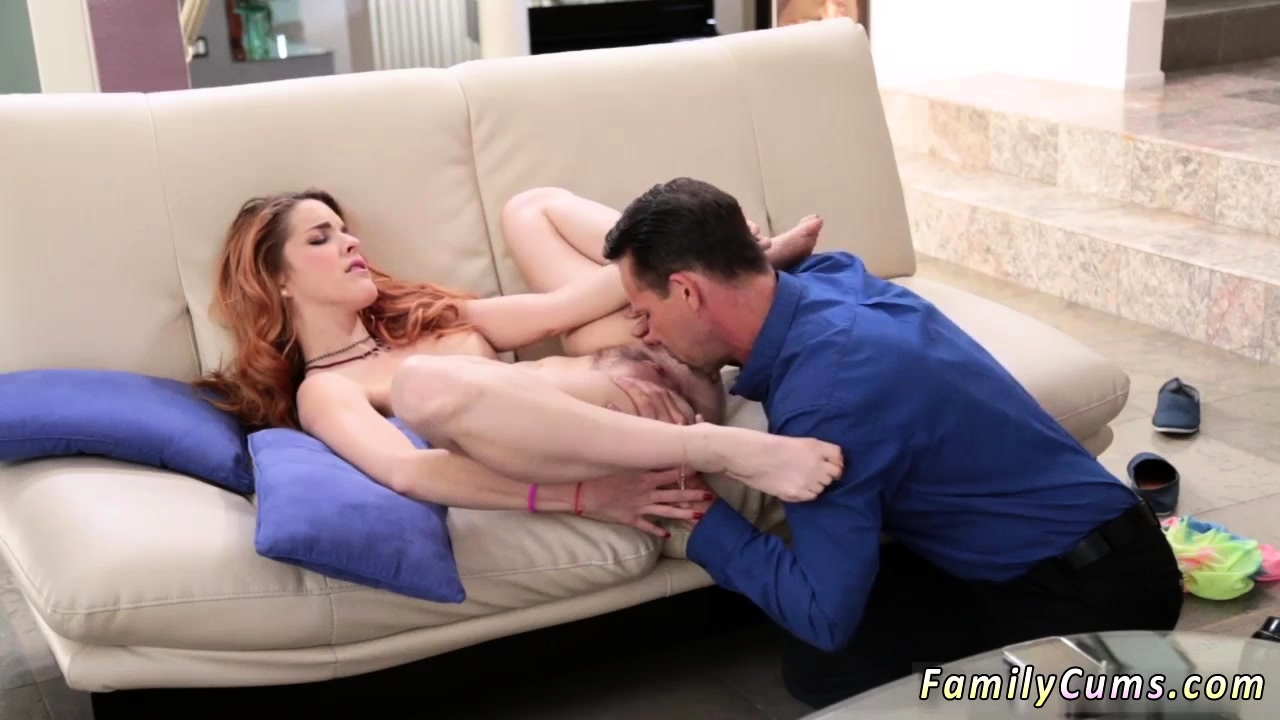 Cute playmate's step daughter punished by her daddy and