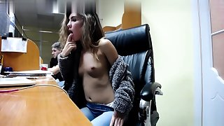 European brunette Albertina with smooth pussy