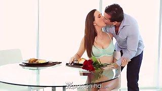 Husband enjoys wife's yummy pussy instead of breakfast