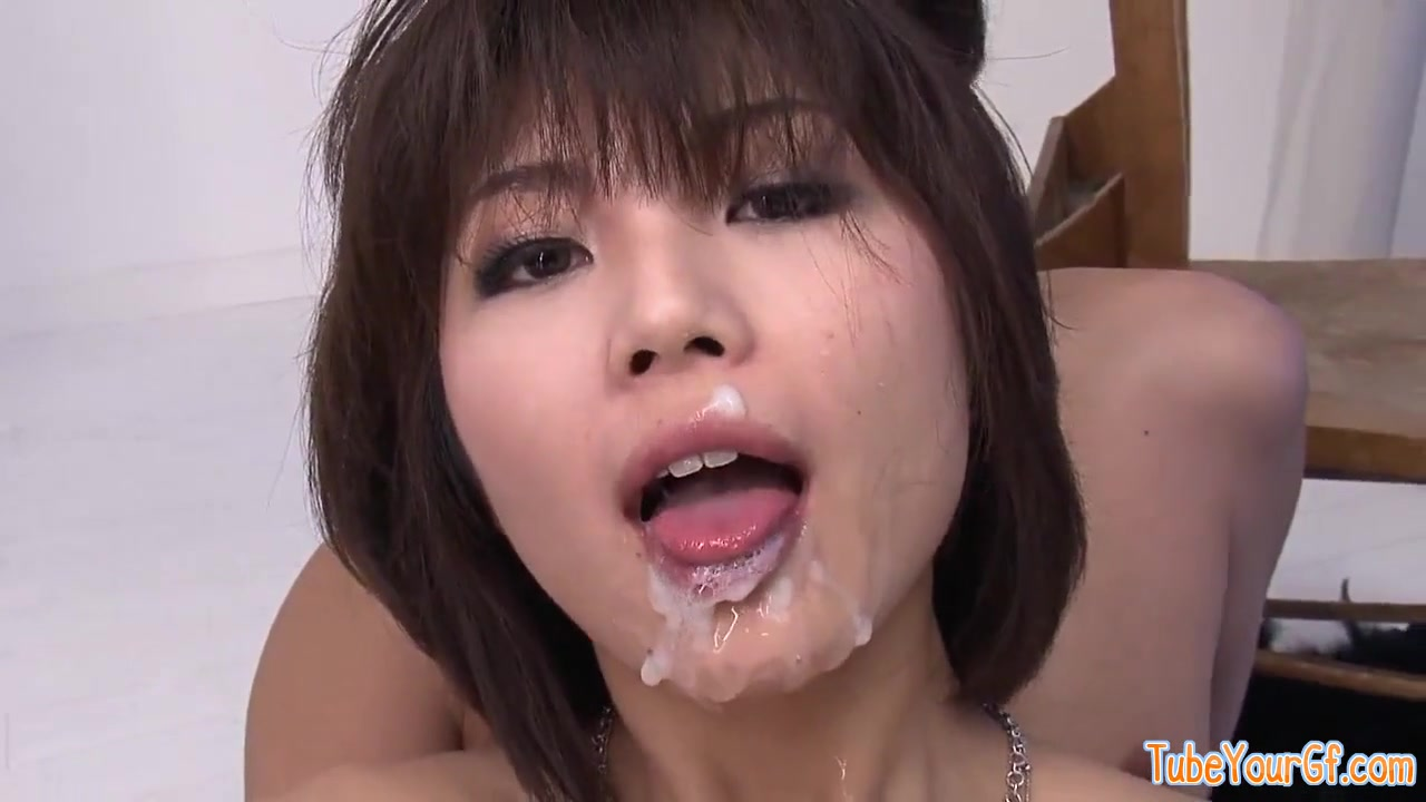Her pretty face is ruined by all that worm semen - japanese