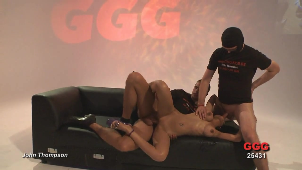 Ass fucked Asian whore takes on multiple guys