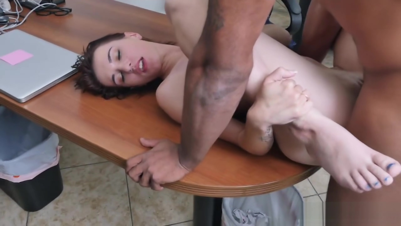 Alice Andrea getting her tight cunt and throat fucked hard by a big black cock